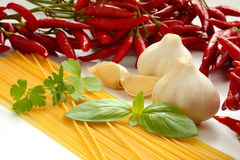 Italian foodstuffs Royalty Free Stock Image