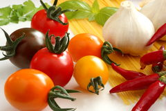 Italian ingredients, foodstuffs Royalty Free Stock Photo