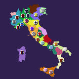 Italian football clubs Royalty Free Stock Photography