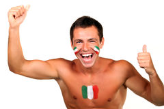 Italian football fan Royalty Free Stock Photo