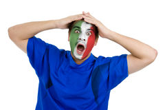 Italian football fan Royalty Free Stock Image
