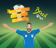 Italian football fan Stock Photography