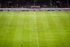 Italian football game AC Milan - Juventus Stock Photography