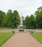 The Italian Fountain. Peterhof (Petrodvorets) Royalty Free Stock Photos
