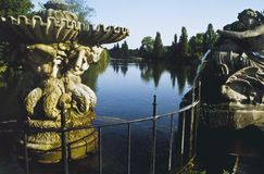 Italian fountains hyde park london Stock Photos