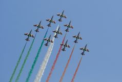 Italian Frecce Tricolori Royalty Free Stock Photos