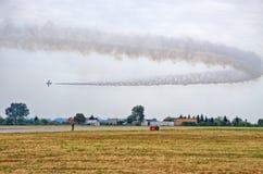 Italian Frecce Tricolori formation on Radom Airshow, Poland Royalty Free Stock Photography