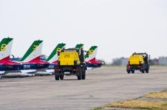 Italian Frecce Tricolori formation on Radom Airshow, Poland Stock Photography