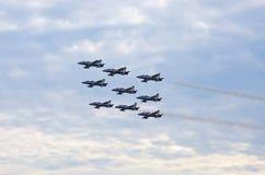Italian Frecce Tricolori formation on Radom Airshow, Poland Stock Images