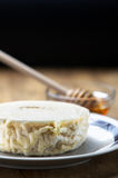 Italian fresh goat cheese and honey Royalty Free Stock Photo