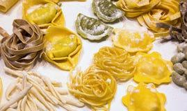 Italian fresh homemade pasta Royalty Free Stock Photos