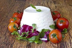 Italian fresh ricotta Stock Photography