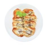 Italian fresh sausage bun isolated on white background,clipping Royalty Free Stock Photo