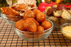 Italian Fried Stuffed Mushrooms. In kitchen or restaurant Royalty Free Stock Photography
