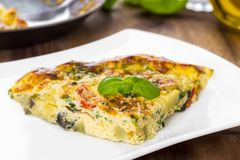 Italian frittata Royalty Free Stock Photos