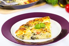 Italian frittata Stock Photos