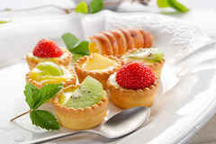 Italian fruits pastry Stock Photos