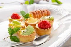 Italian fruits pastry Stock Photos