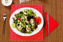 Italian frutti di mare on table Stock Images