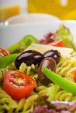 Italian fusilli pasta salad royalty free stock photography