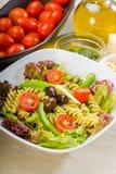 Italian fusilli pasta salad Stock Image