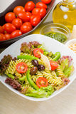 Italian fusilli pasta salad Stock Photography