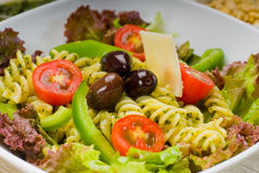 Italian fusilli pasta salad Royalty Free Stock Images
