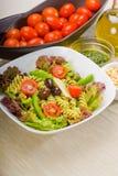 Italian fusilli pasta salad Stock Images