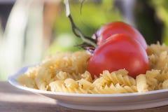 Italian fusilli pasta with tomatoes Stock Photography