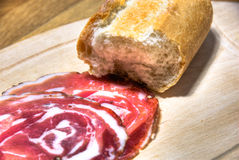 Italian gammon and bread Royalty Free Stock Images