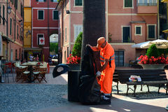 Italian garbage collector Royalty Free Stock Image