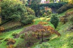 Italian garden in Autumn Stock Photo
