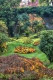Italian garden in Autumn Royalty Free Stock Images
