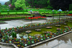 Italian garden in butchart gar Royalty Free Stock Photos