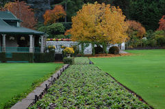 Italian garden in fall royalty free stock photo