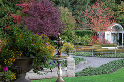 Italian garden in fall Stock Image