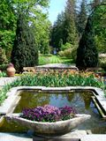 Italian garden with fountain Royalty Free Stock Image