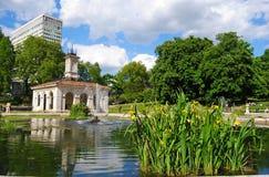Italian Garden fountains in the Kensington Gardens in London. Royalty Free Stock Photos