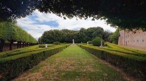 Italian garden, Horti Leonini, San Quirico D'Orci Royalty Free Stock Photos