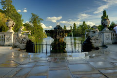 Italian Garden in Kensington Stock Photo