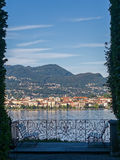 Italian Garden with Lake View Royalty Free Stock Images