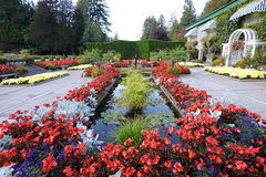 Italian garden landscaping Royalty Free Stock Image