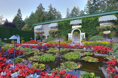 Italian garden landscaping Stock Images