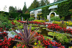 Italian garden landscaping Stock Photos