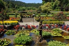 Italian garden landscaping Stock Photos