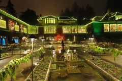 Italian garden lighting Stock Photo