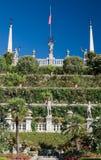 Italian Garden of the Palazzo Borromeo. The gardens of Isola Bella on Lake Maggiore, Italy Royalty Free Stock Images