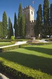 Italian Gardens And Castle Royalty Free Stock Photography