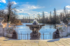 Italian gardens at hyde park Stock Images