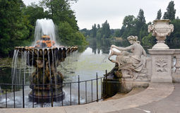 Italian Gardens & Serpentine, Hyde Park, London Stock Photo